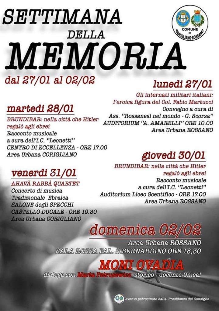 Settimana della Memoria