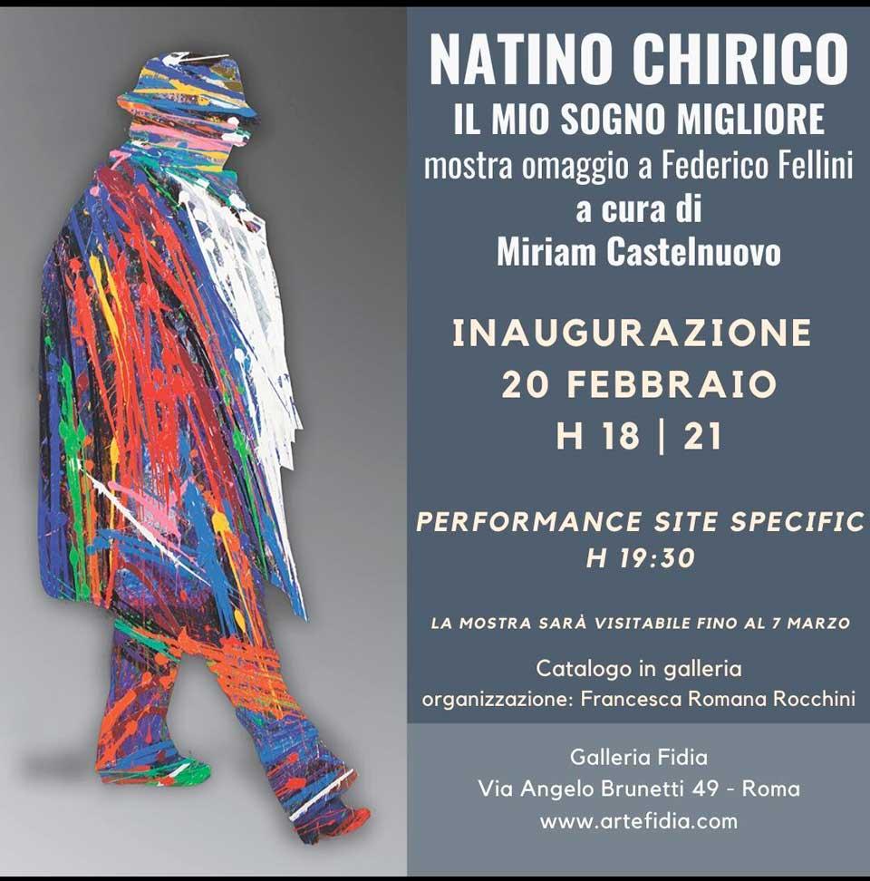 Natino Chirico mostra Fellini