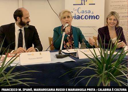 Francesco Maria Spanò, Mariarosaria Russo e Mariangela Preta
