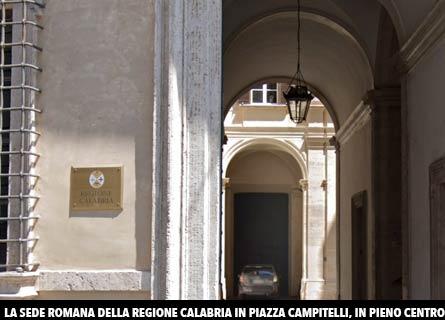 La sede romana della Regione Calabria
