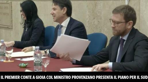 Giuseppe Conte e Peppe Provenzano a Gioia Tauro