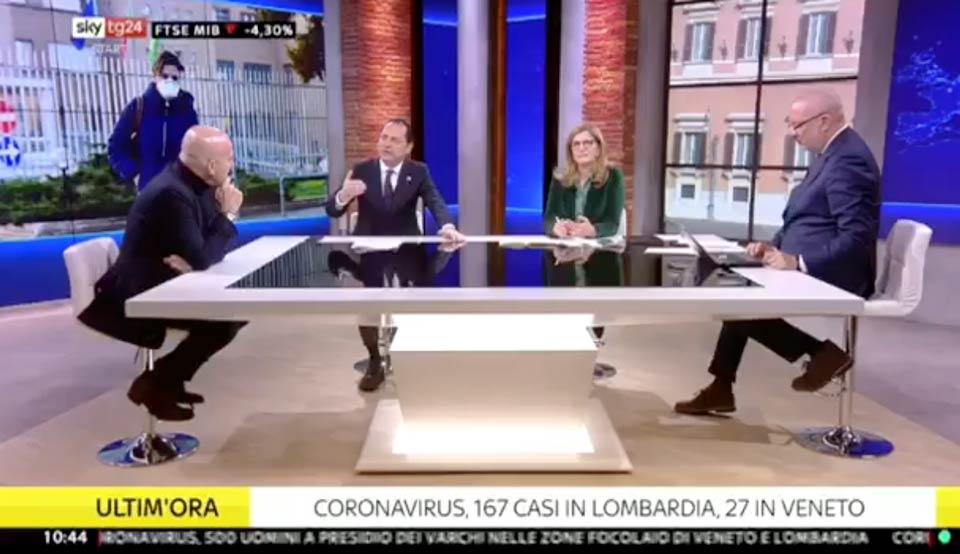 Marco Siclari a SkyTg24