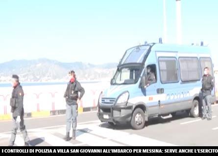 Controlli di Polizia all'imbarco di Villa San Giovanni