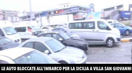 Imbarco auto a Villa San Giovanni