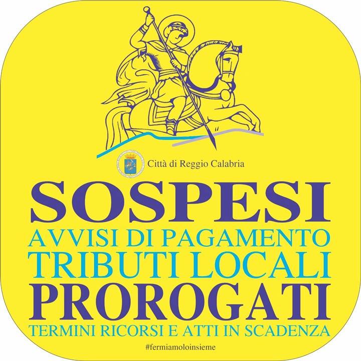 Sospesi i tributi a Reggio per l'emergenza Covid-19