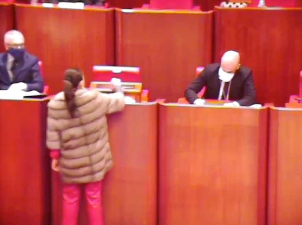 Jole Santelli vota per il Presidente del Consiglio regionale