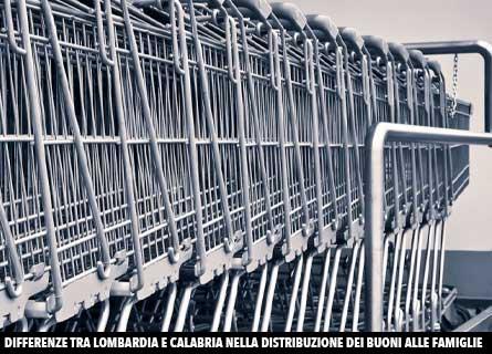 Carrelli vuoti al supermercato