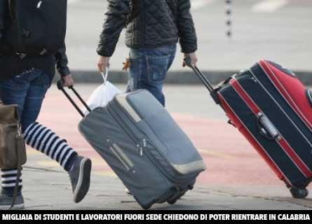 Rientro di studenti in Calabria
