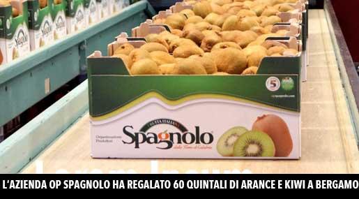 I kiwi dell'azienda Op Spagnolo inviati a Bergamo