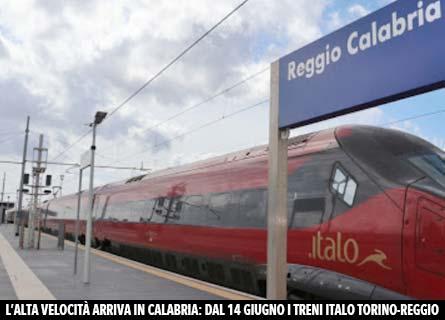 Il treno Italo a Reggio Calabria