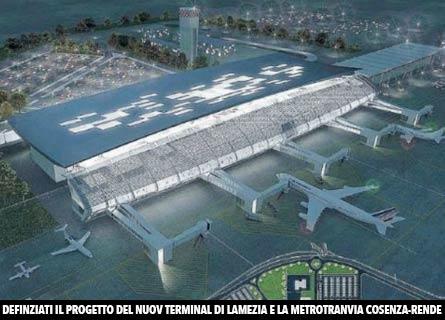 Il progetto della nuova aerostazione di Lamezia Terme