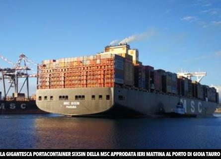 La mega nave Sixsin della Msc
