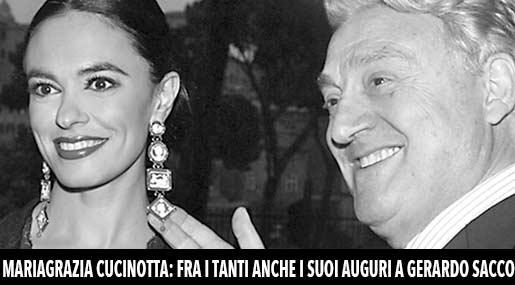 Maria Grazia Cucinotta e Gerardo Sacco