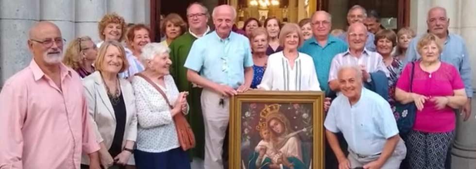 I bivongesi di La Plata (Argentina) con la venerata effigie di Mamma Nostra