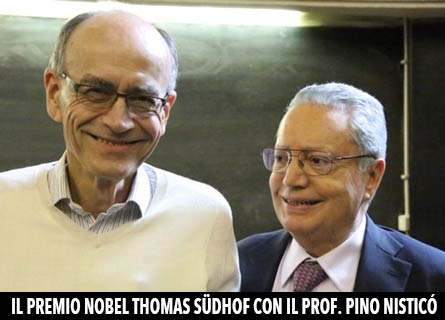 Il Premio Nobel Thomas Südhof e il prof. Pino Nisticò
