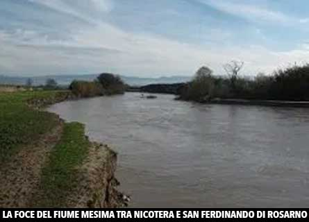 La foce del fiume Mesima in Calabria