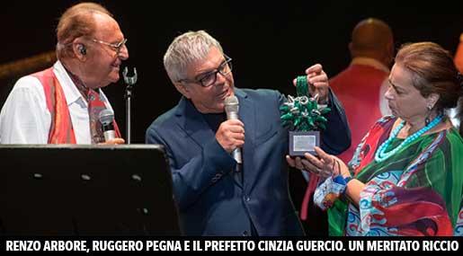 Renzo Arbore, Ruggero Pegna e Cinzia Guercio