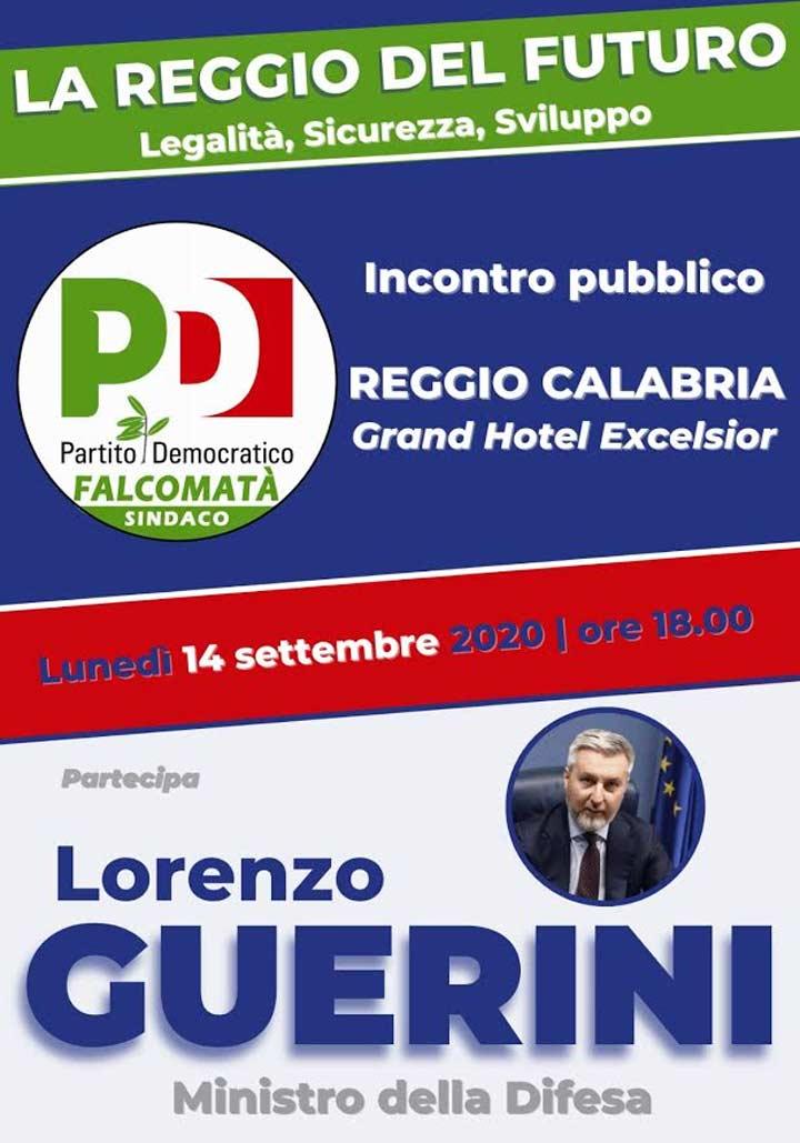 REGGIO - Lunedì iniziativa con il ministro della Difesa Lorenzo Guerini