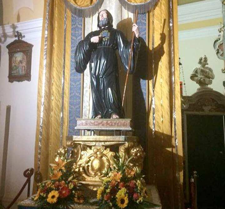 Statua lignea di San Francesco di Paola