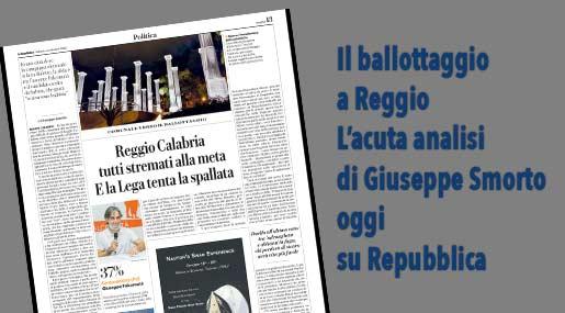 La Repubblica si occupa di Reggio
