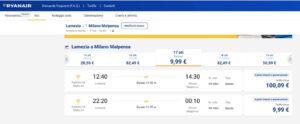 Ryanair Lamezia-Malpensa