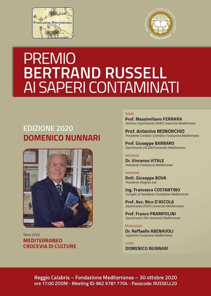 Domenico Nunnari premio Bertrand Russel