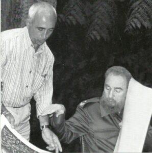 Azzinari e Fidel Castro
