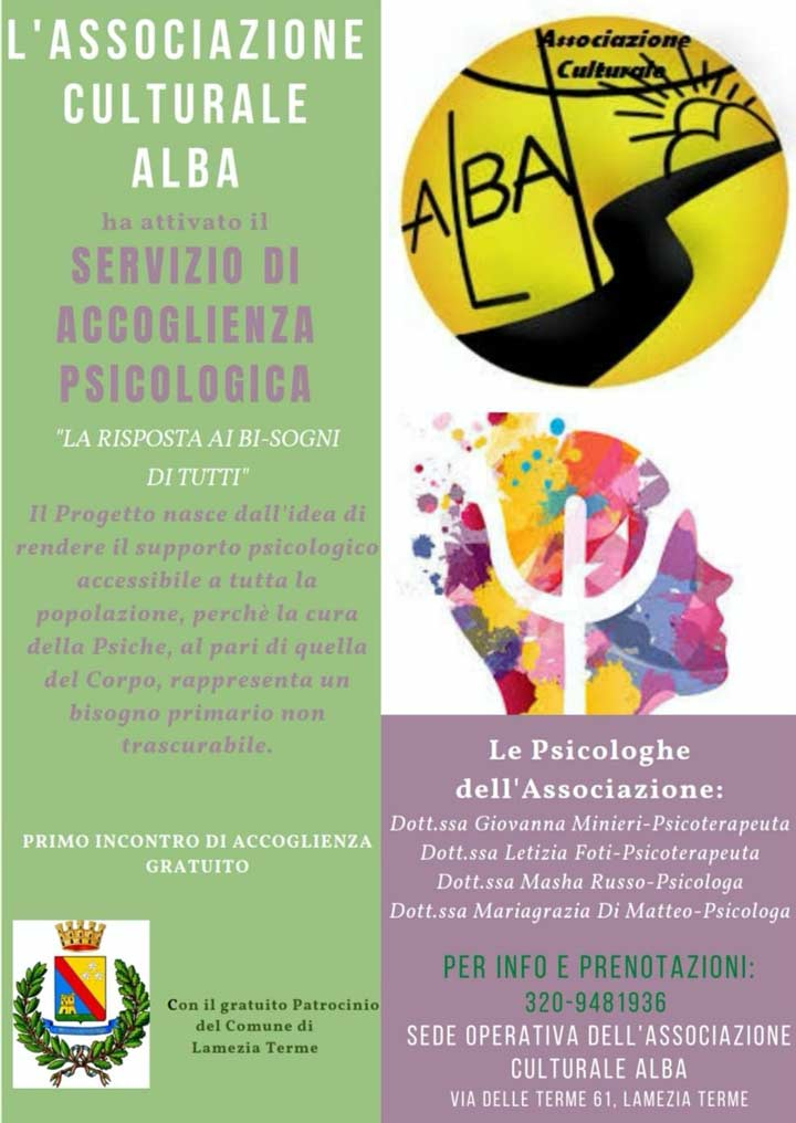 Servizio Accoglienza Psicologica Associazione Alba LT