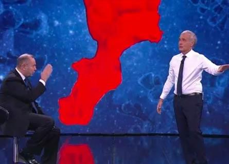 Il generale Saverio Cotticelli e Massimo Giletti su la7