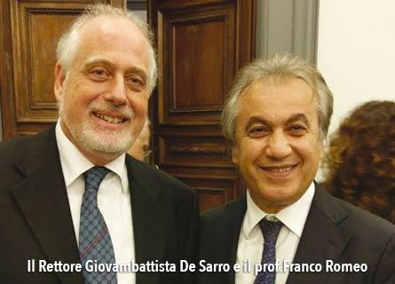 Il rettore UMG Giovambattista De Sarro e il cardiologo prof. Franco Romeo: due eccellenze calabresi
