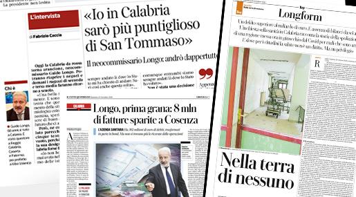 La stampa italiana sul Commissario alla Sanità calabrese Guido Longo