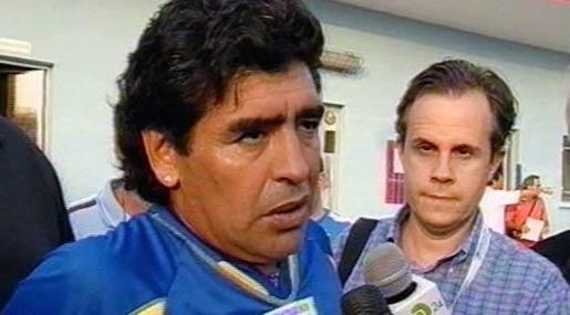 Maradona intervistato da Emilio Buttaro