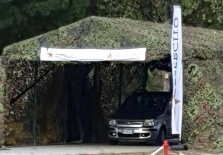 È operativo il drive through dell'esercito a Catanzaro