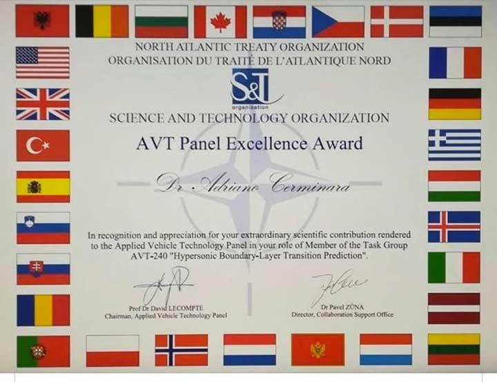 Adriano Cerminara premiato dalla Nato