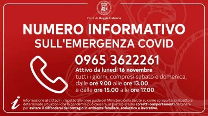 numero informativo RC su emergenza covid-19