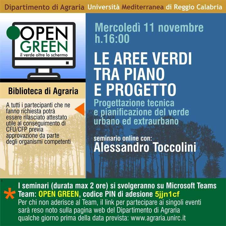 Open Green ultimo seminario 11 novembre
