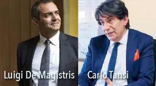 Luigi De Magistris e Carlo Tansi