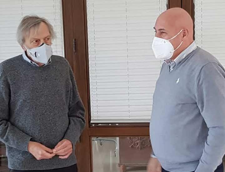 Gino Strada e Vincenzo Voce