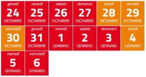 Il calendario delle festività