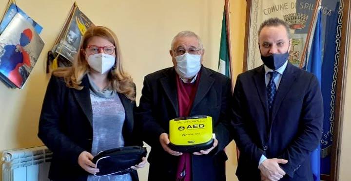 Defibrillatore donato a Spilinga