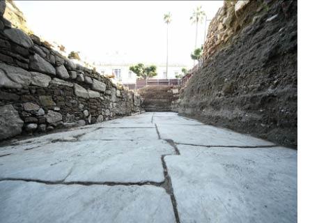 STrada del periodo romano a Reggio