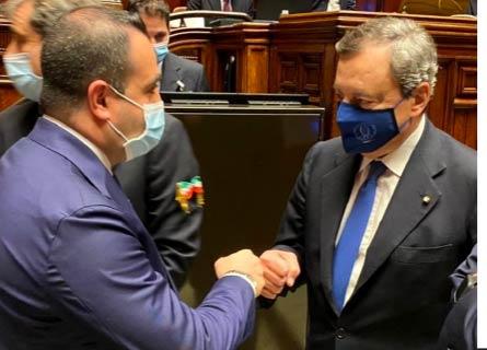Francesco Cannizzaro e Mario Draghi