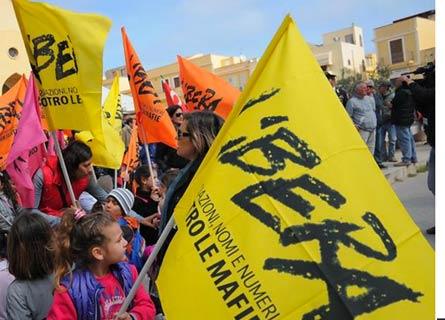 Una manifestazione dell'Associazione Libera