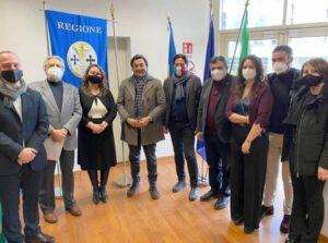 L'assessore Orsomarso e i sindaci della Rete di San Francesco di Paola