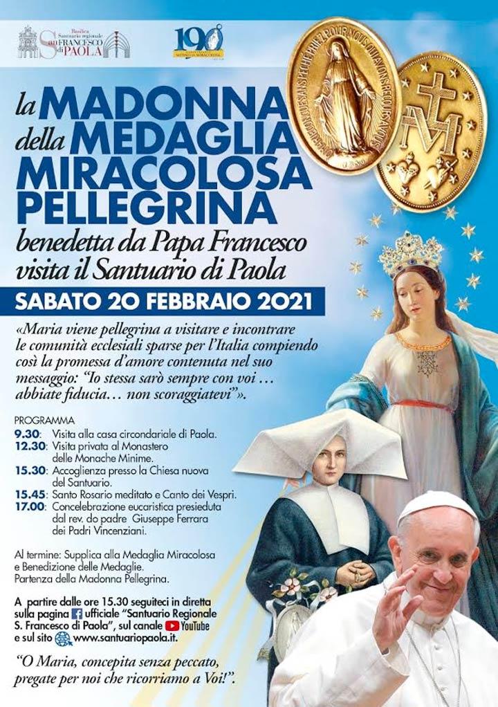 Madonna Medaglia Miracolosa a Paola