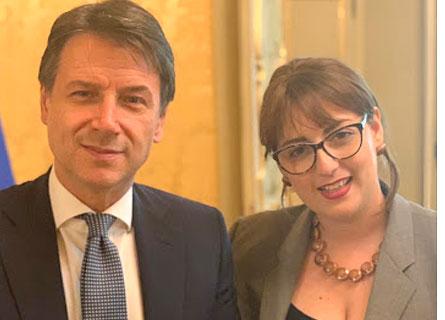 Giuseppe Conte e Dalila Nesci