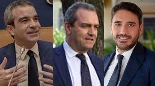 Roberto Occhiuto, Luigi De Magistris e Nicola irto
