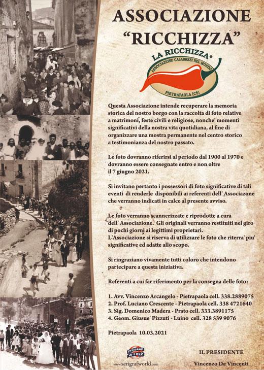 """Associazione """"Ricchizza"""""""