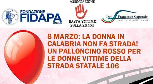 palloncini per donne vittime della 106