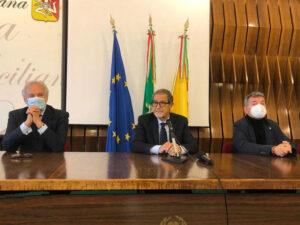 Pietro Salini, Nello Musumeci e Nino Spirlì